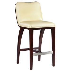 Fairfield Barstools  High End Bar Stool with Wood Accents