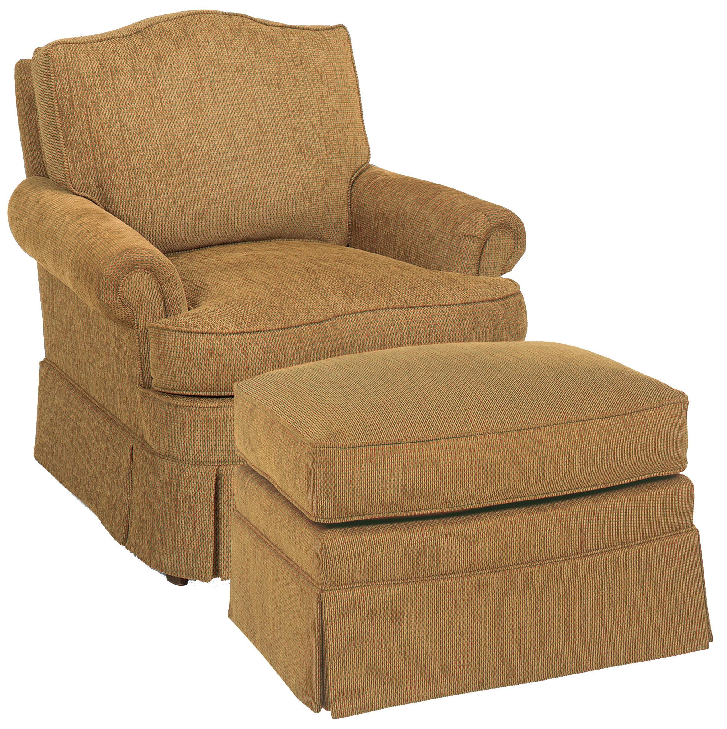 Fairfield Chairs Swivel Glider Chair & Ottoman  - Item Number: 1454-32+20