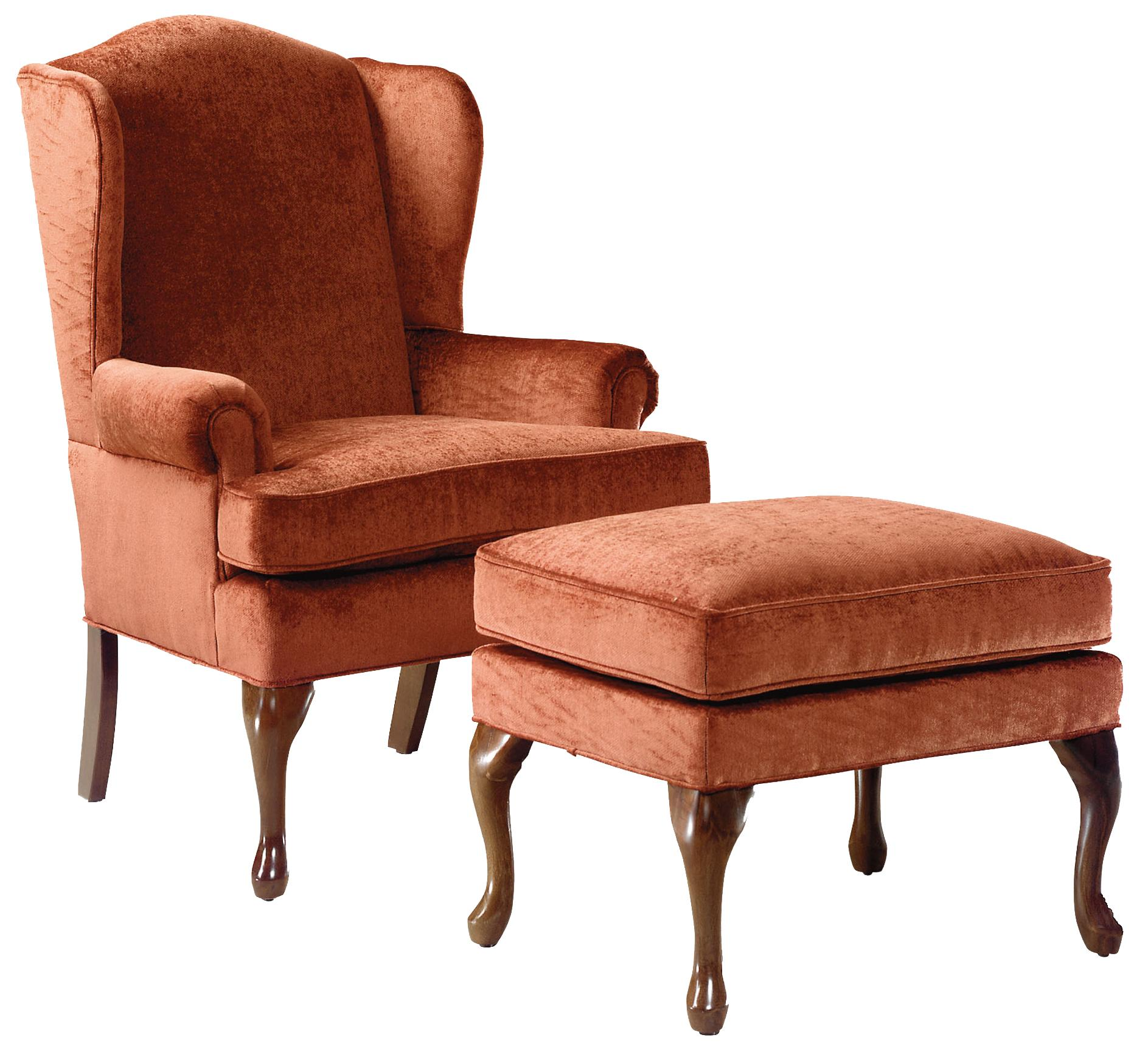 Fairfield Chairs Wing Chair & Ottoman - Item Number: 5118-01+20
