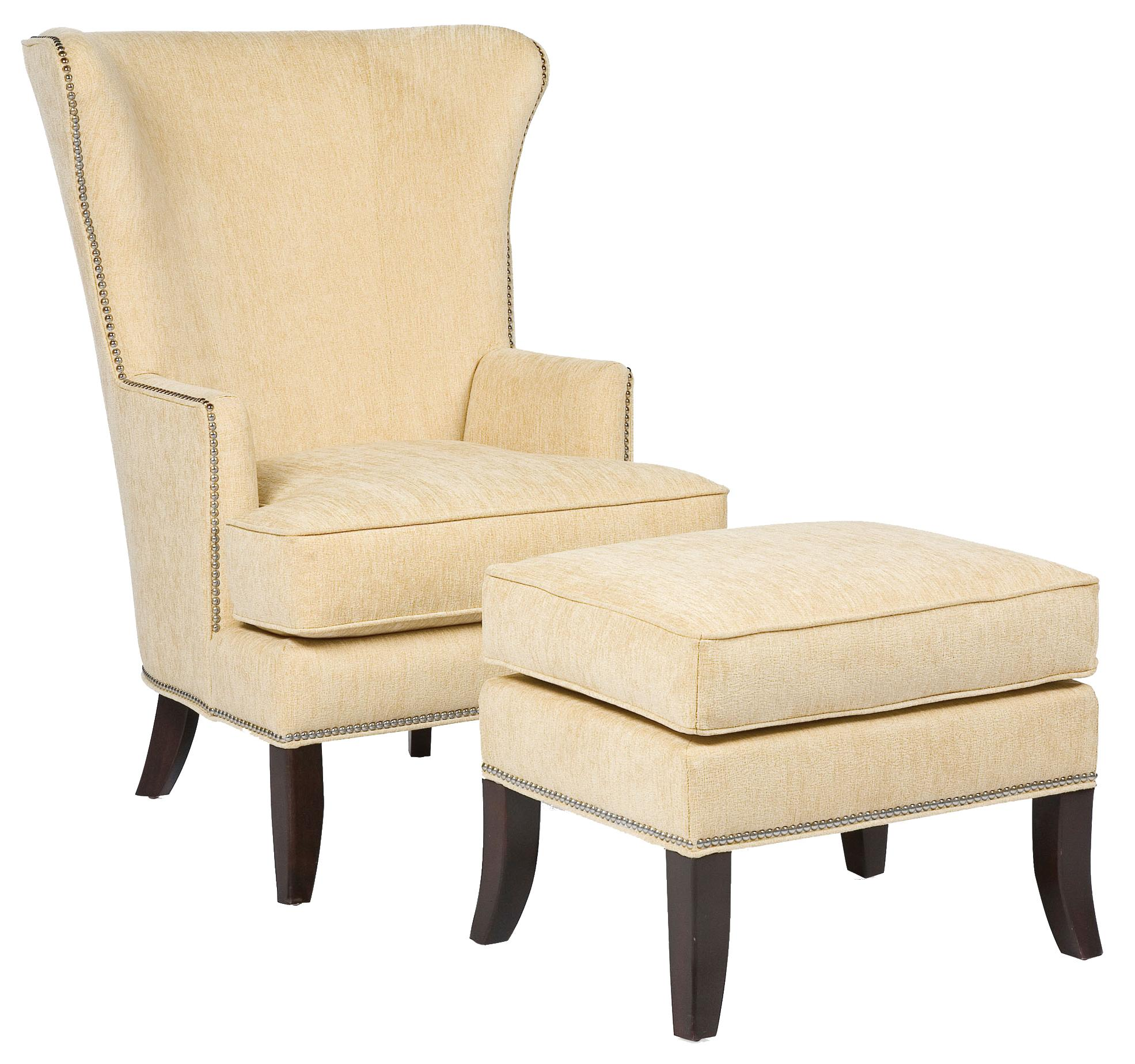 Fairfield Chairs Contemporary Chair & Ottoman - Item Number: 5147-01+20