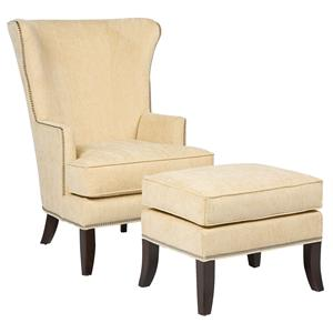 Fairfield Chairs Contemporary Chair & Ottoman