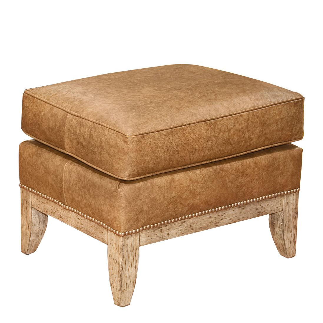 Fairfield Chairs Leather Ottoman - Item Number: 5155-20