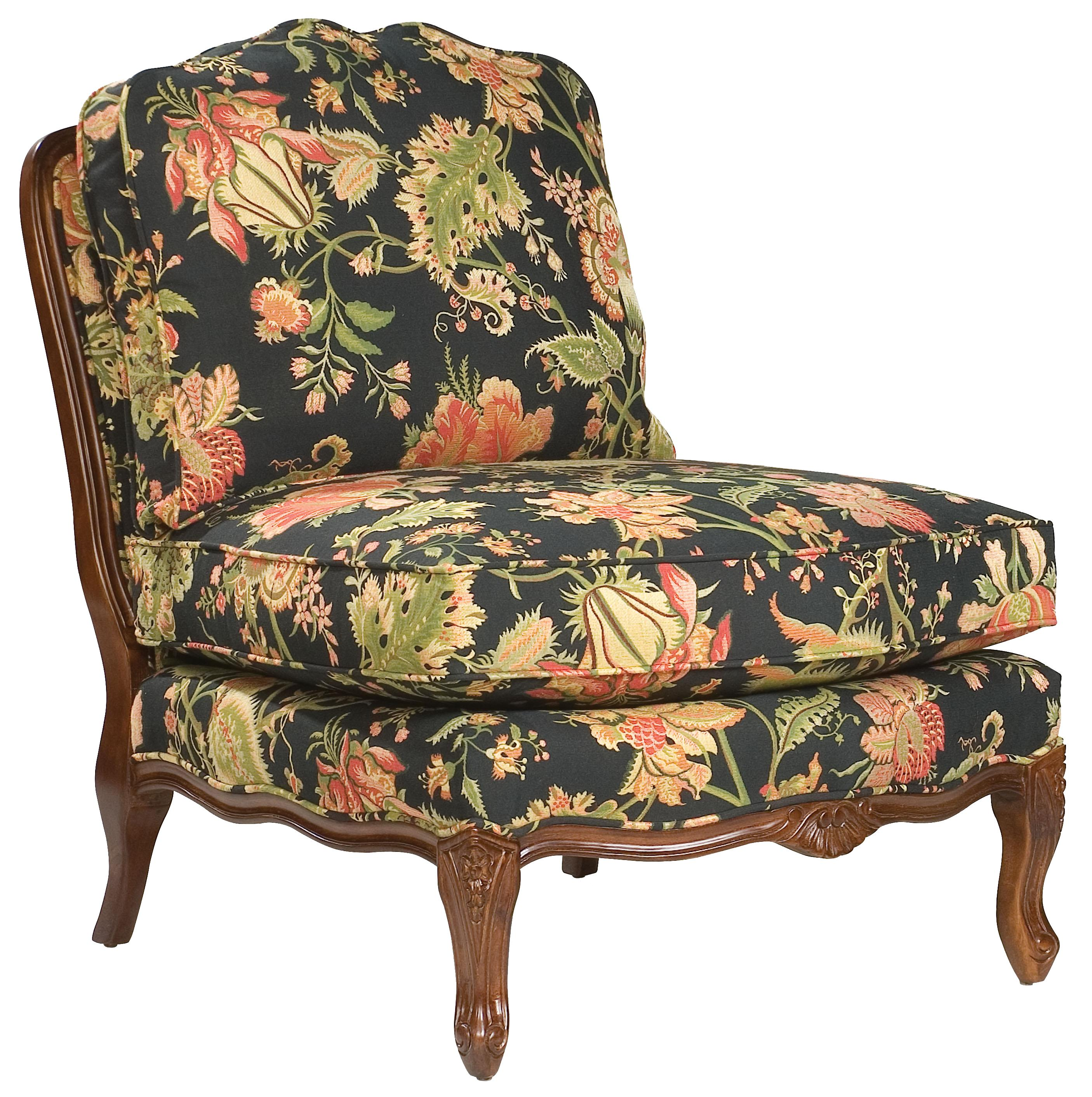 Traditional Armless Lounge Chair