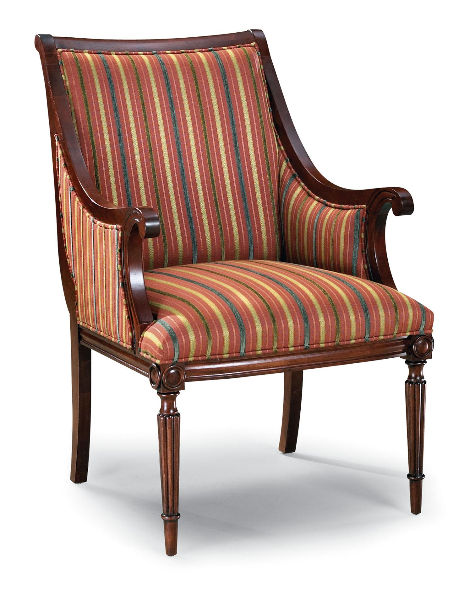Sofa Mart Accent Chairs: Fairfield Chairs Exposed Wood Upholstered Accent Chair