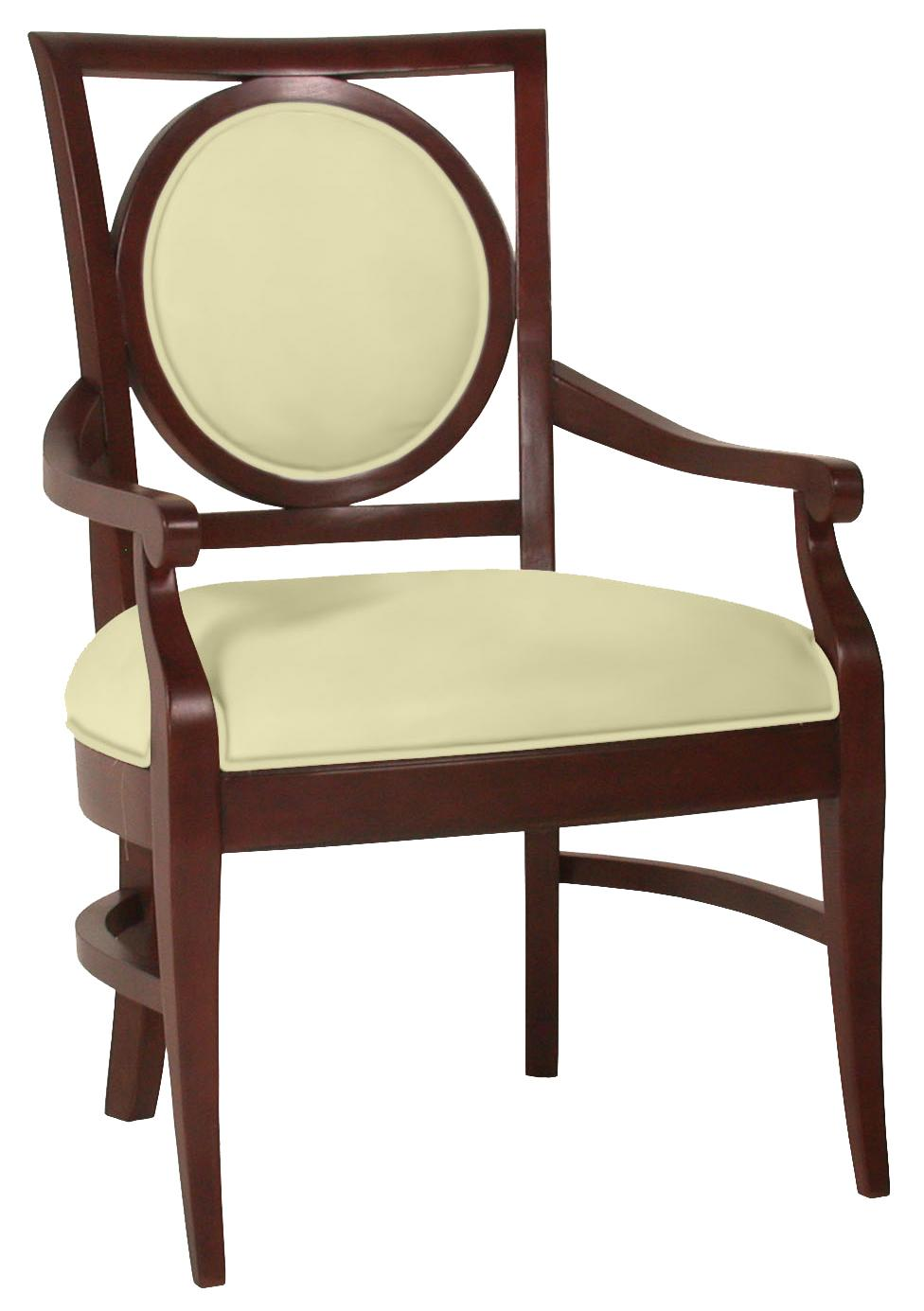 Fairfield Chairs Circle Back Arm Chair - Item Number: 5424-04