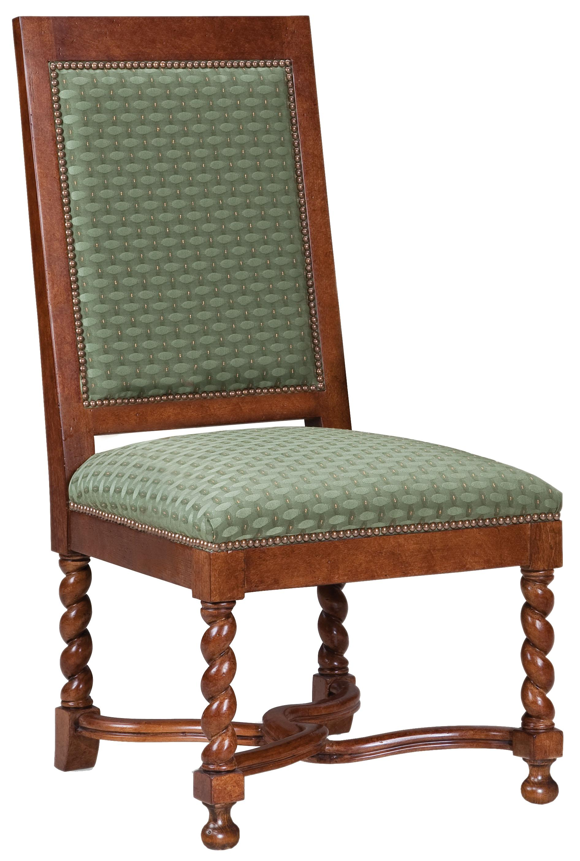 Fairfield Chairs Spiral Legged Side Chair - Item Number: 5428-05