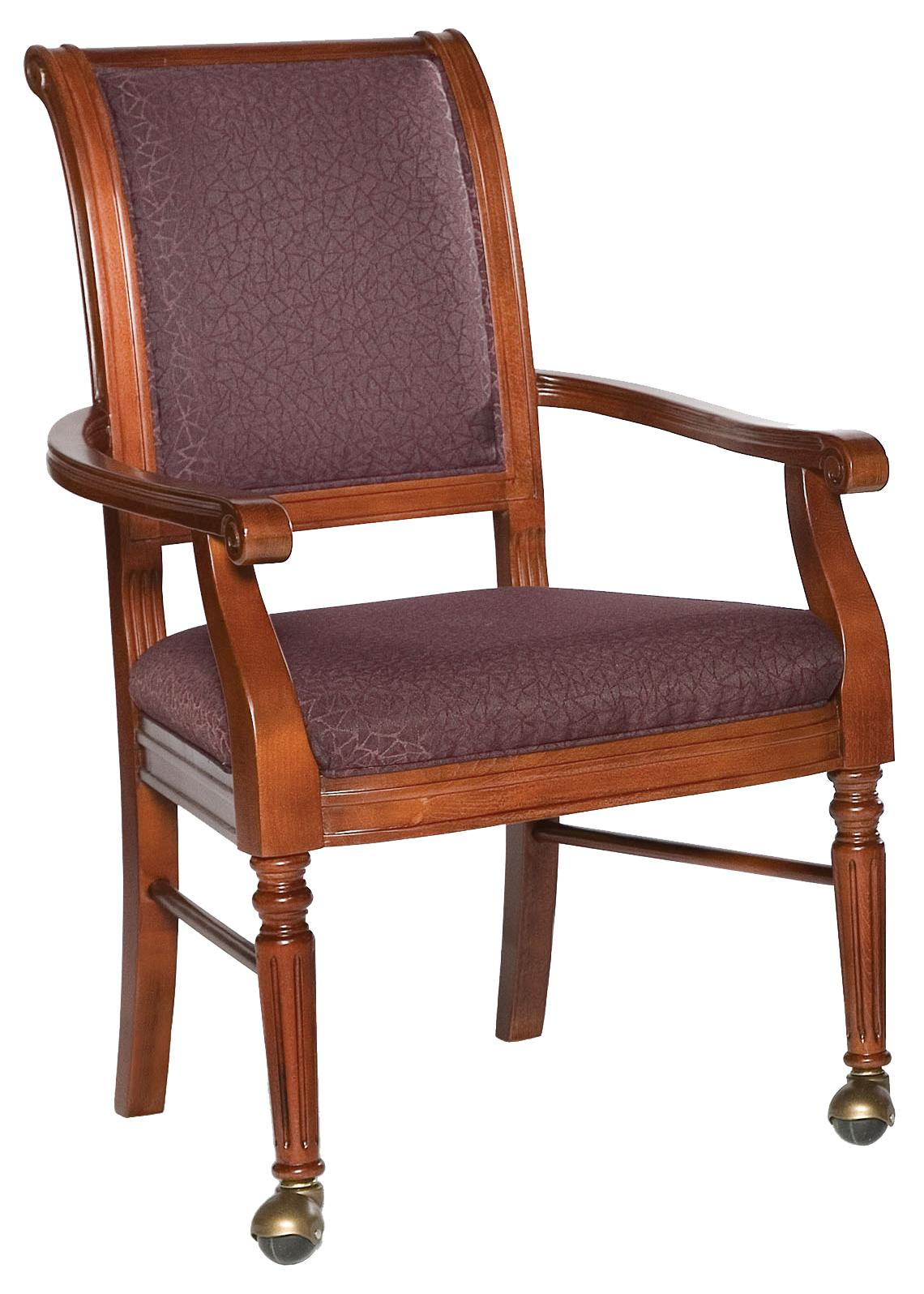 Fairfield Chairs Picture Frame Chair with Front Leg Casters - Item Number: 5434-A2