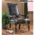 Fairfield Chairs Elegant Exposed Wood Chair with Rectangular Back - 5441-01