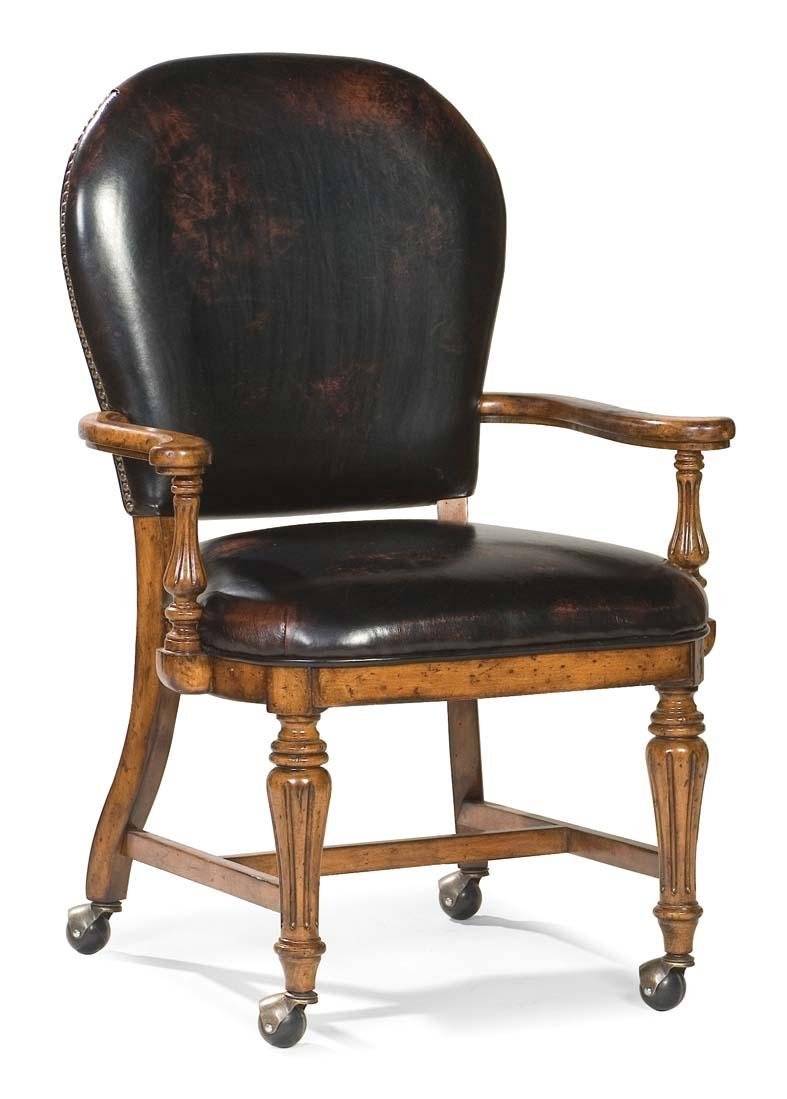 Fairfield Chairs Exposed Wood Chair With Casters - Item Number: 5450-01