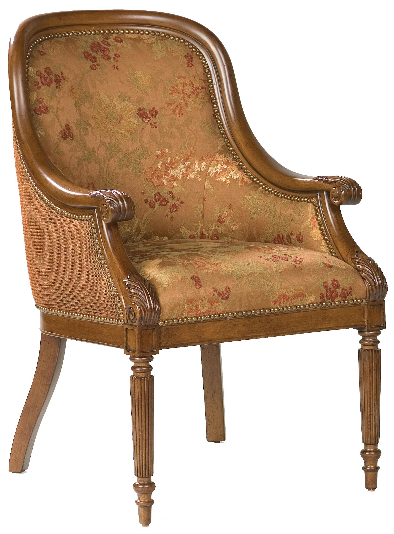 Fairfield Chairs Exposed Wood Lounge Chair - Item Number: 5476-04