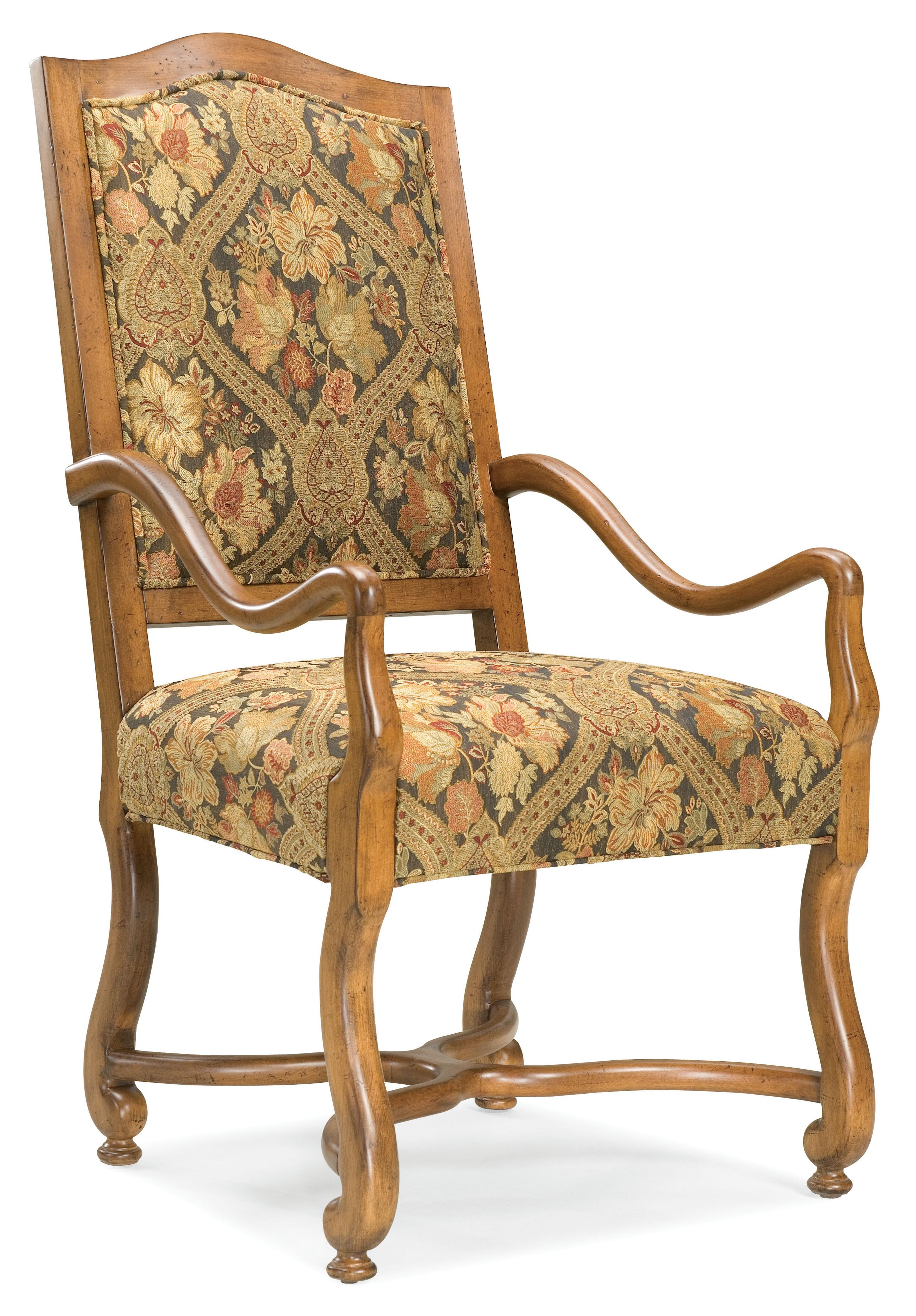 Fairfield Chairs Exposed Wood Arm Chair - Item Number: 5484-04