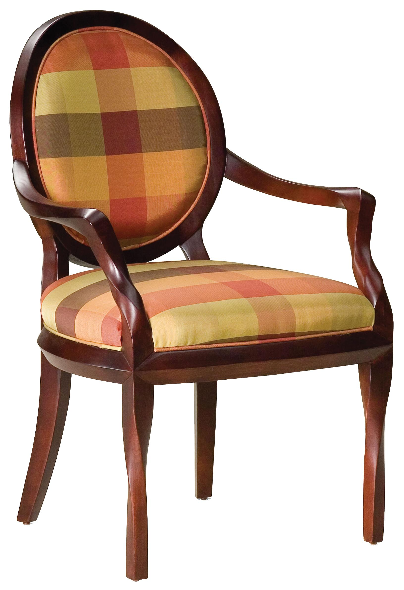 Fairfield Chairs Upholstered & Cut-Out Back Chair - Item Number: 5485-01