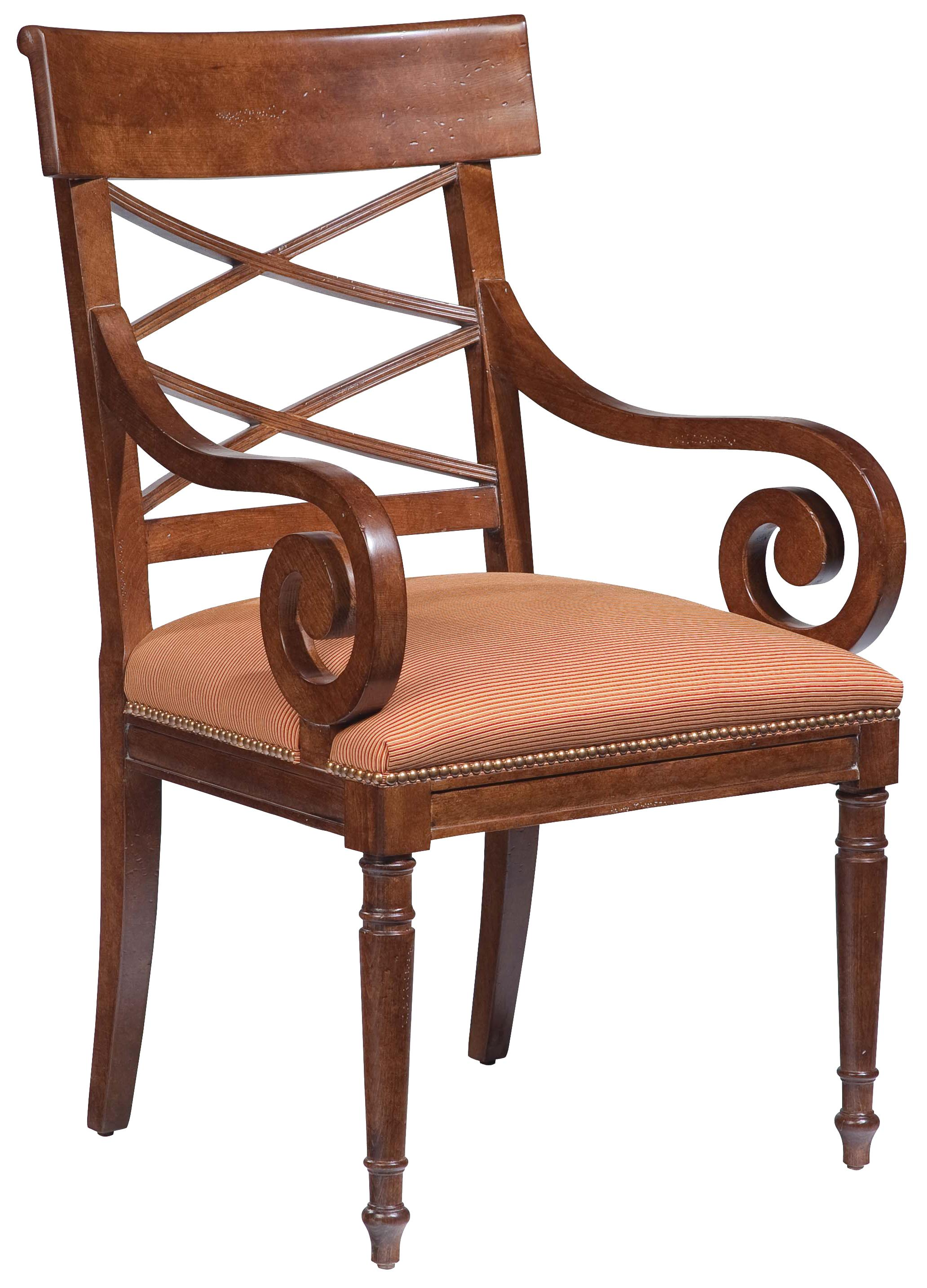 Fairfield Chairs Scroll-Arm Chair - Item Number: 5492-01