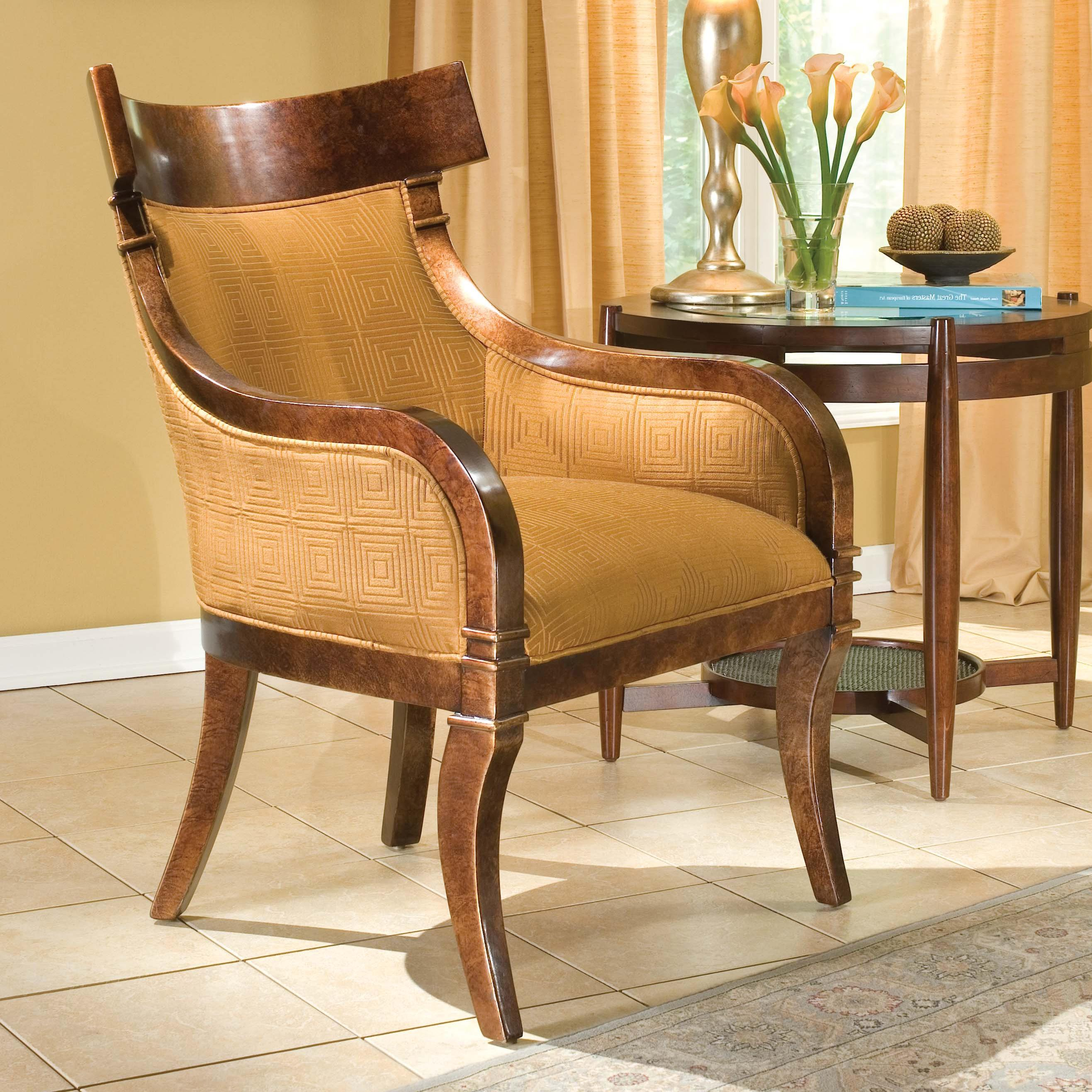 Grove Park Chairs Rustic Upholstered Accent Chair