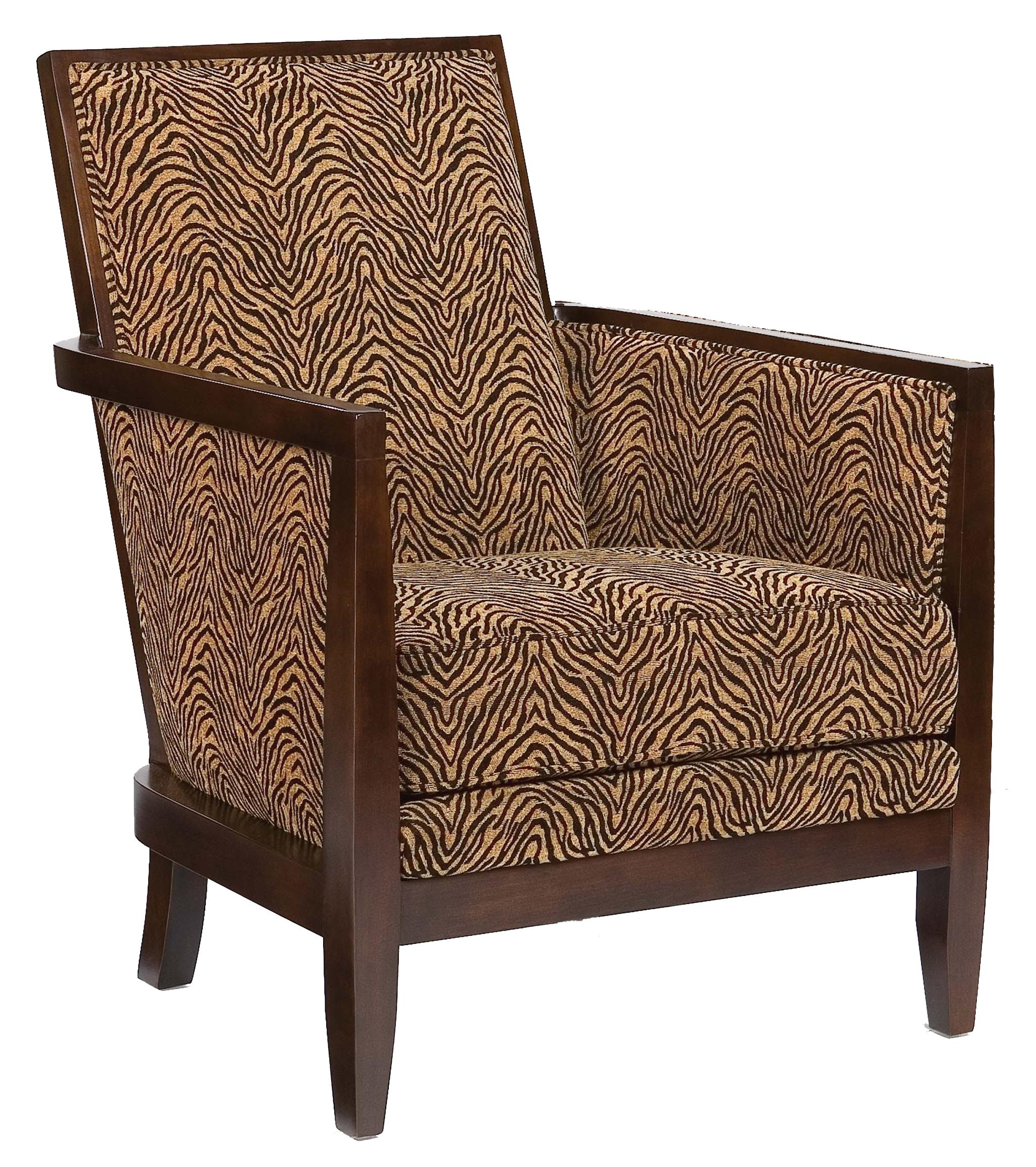 Geometric Exposed-Wood Chair