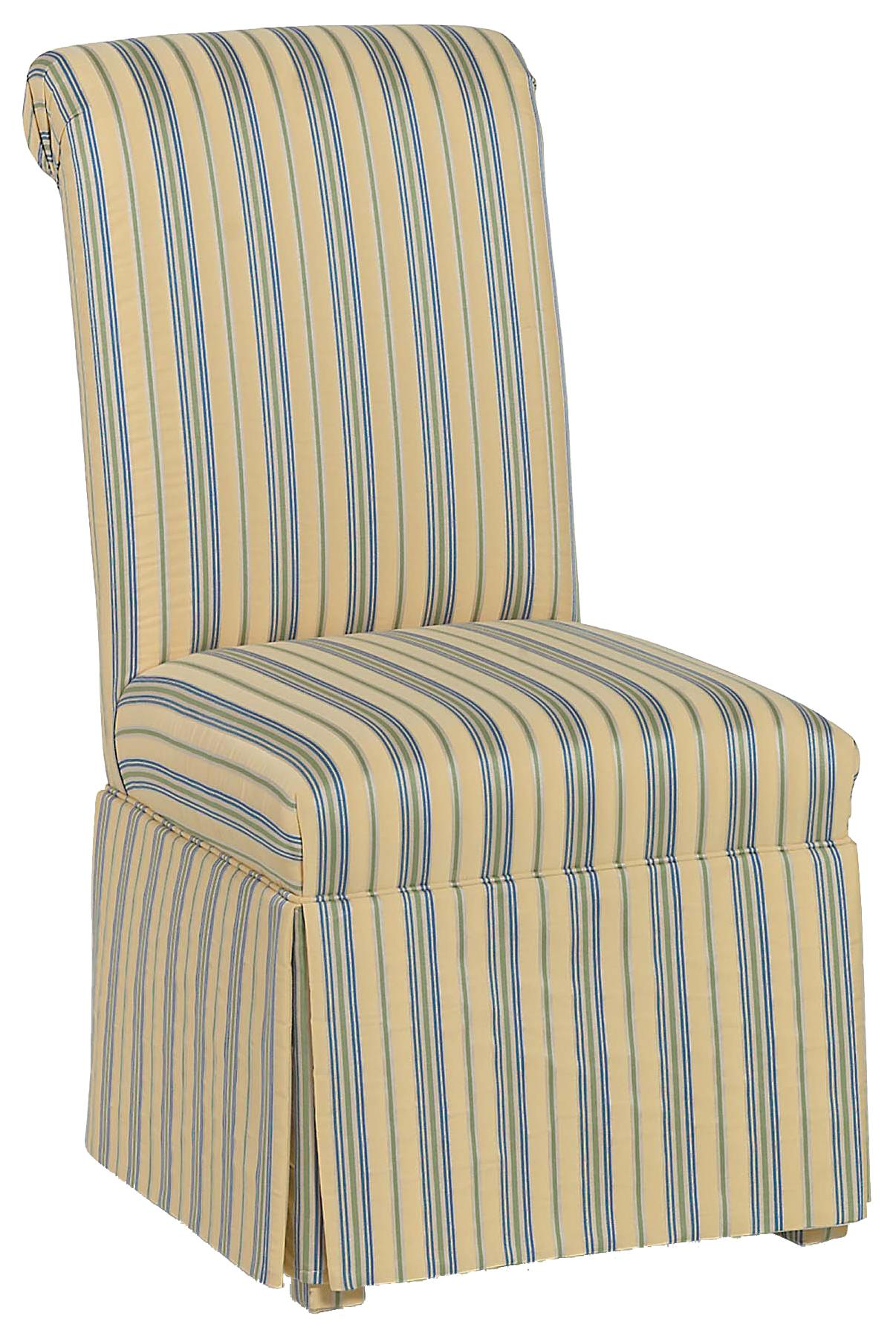 Fairfield Chairs Rolled Back Skirted Chair - Item Number: 6032-01