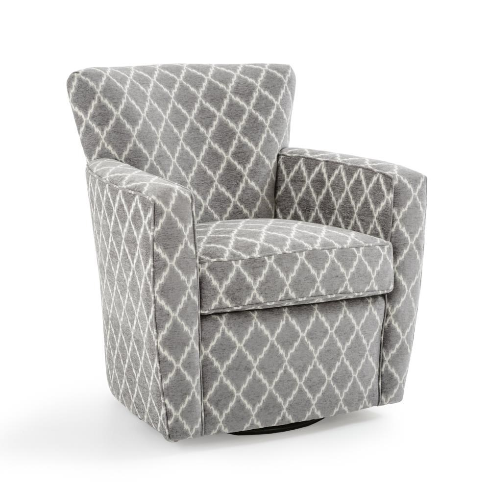 Fairfield Chairs Contemporary Swivel Chair - Item Number: 6121-31 9690 SILVER