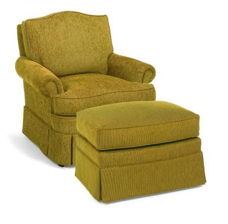 Fairfield 1454 Upholostered Chair and Ottoman - Item Number: 1454-01+20