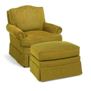 Fairfield 1454 Upholostered Chair and Ottoman