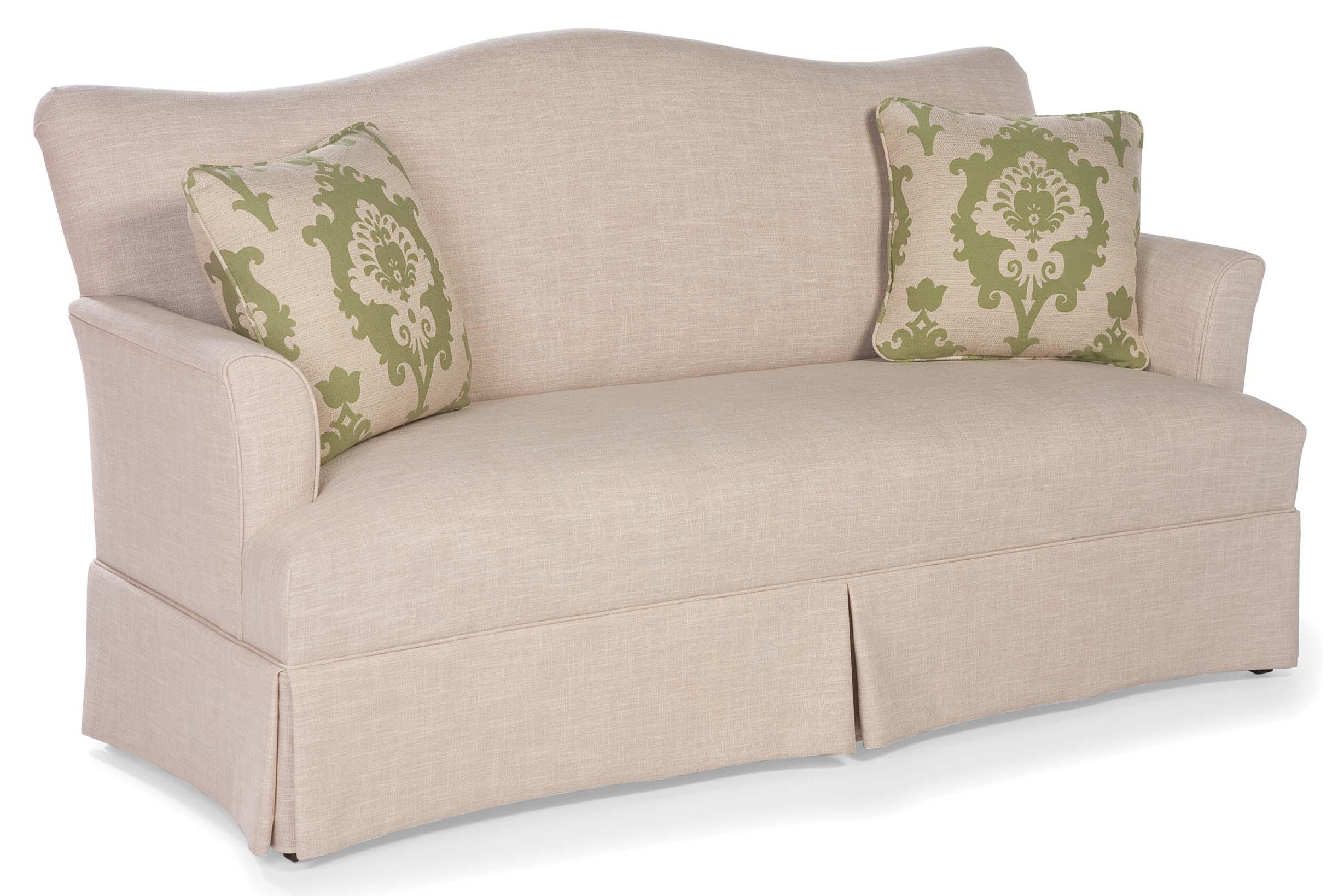 Fairfield Sofa Accents Skirted Camel Back Sofa Olinde 39 S Furniture Sofas