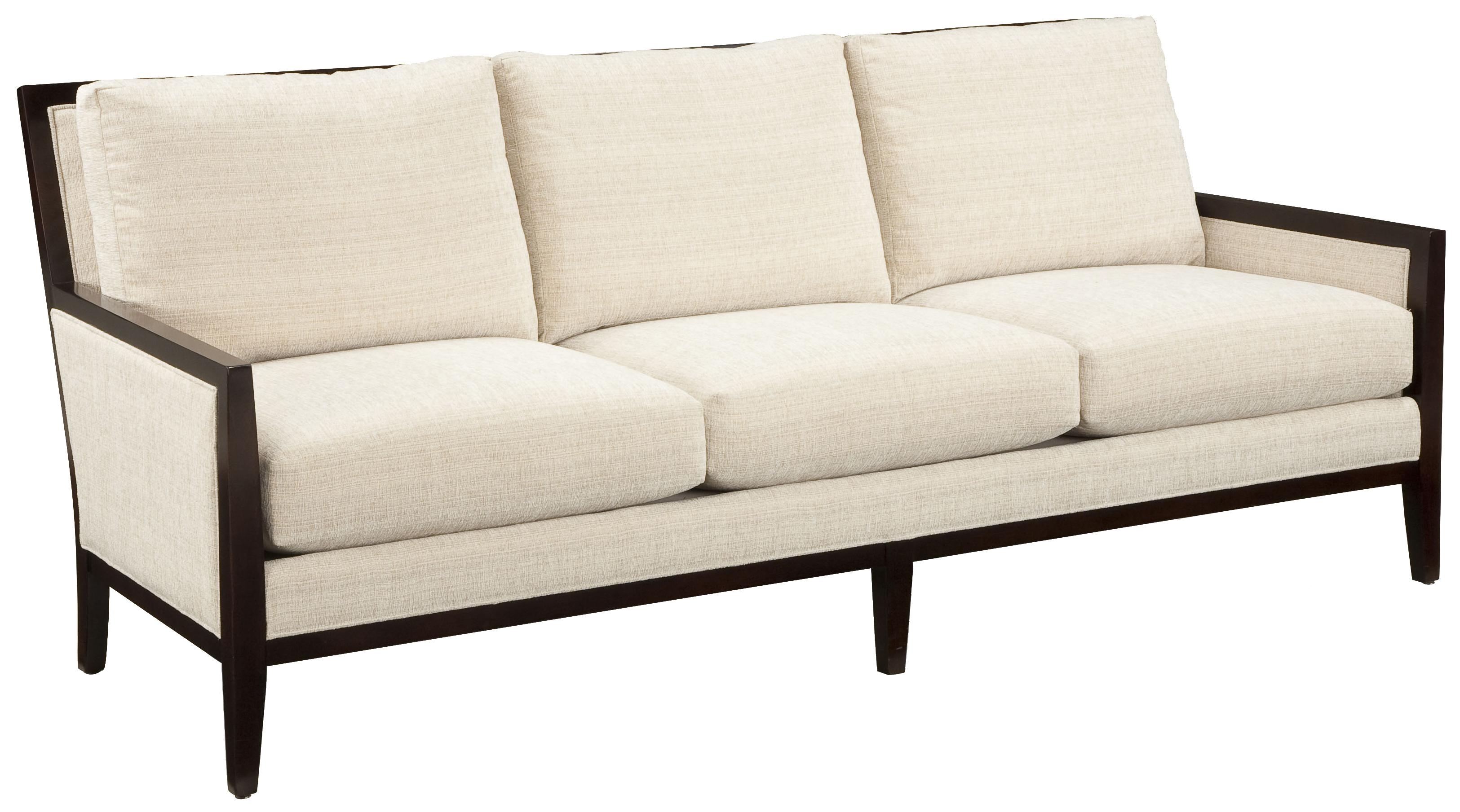 Sofa Accents Contemporary Styled With Traditional Exposed Wood Accent Trim By Fairfield At Lindy S Furniture Company