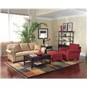 Fairfield Sofa Accents Flair-Arm Accent Sofa - Shown with Coordinating Accent Chair and Ottoman