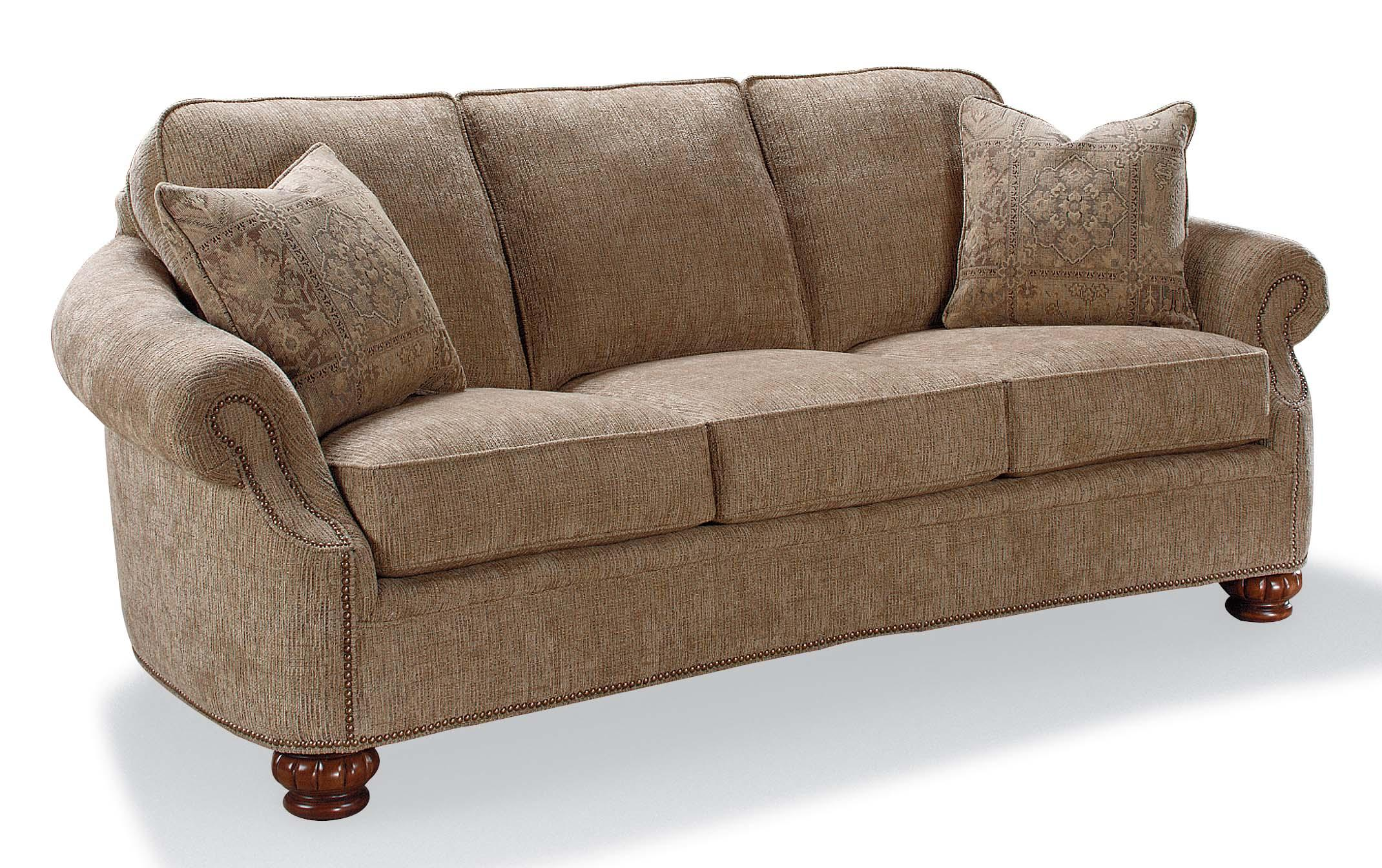 Fairfield Sofa Accents Rolled Arm Accent Sofa With Nailhead Trim Belfort Furniture Sofas