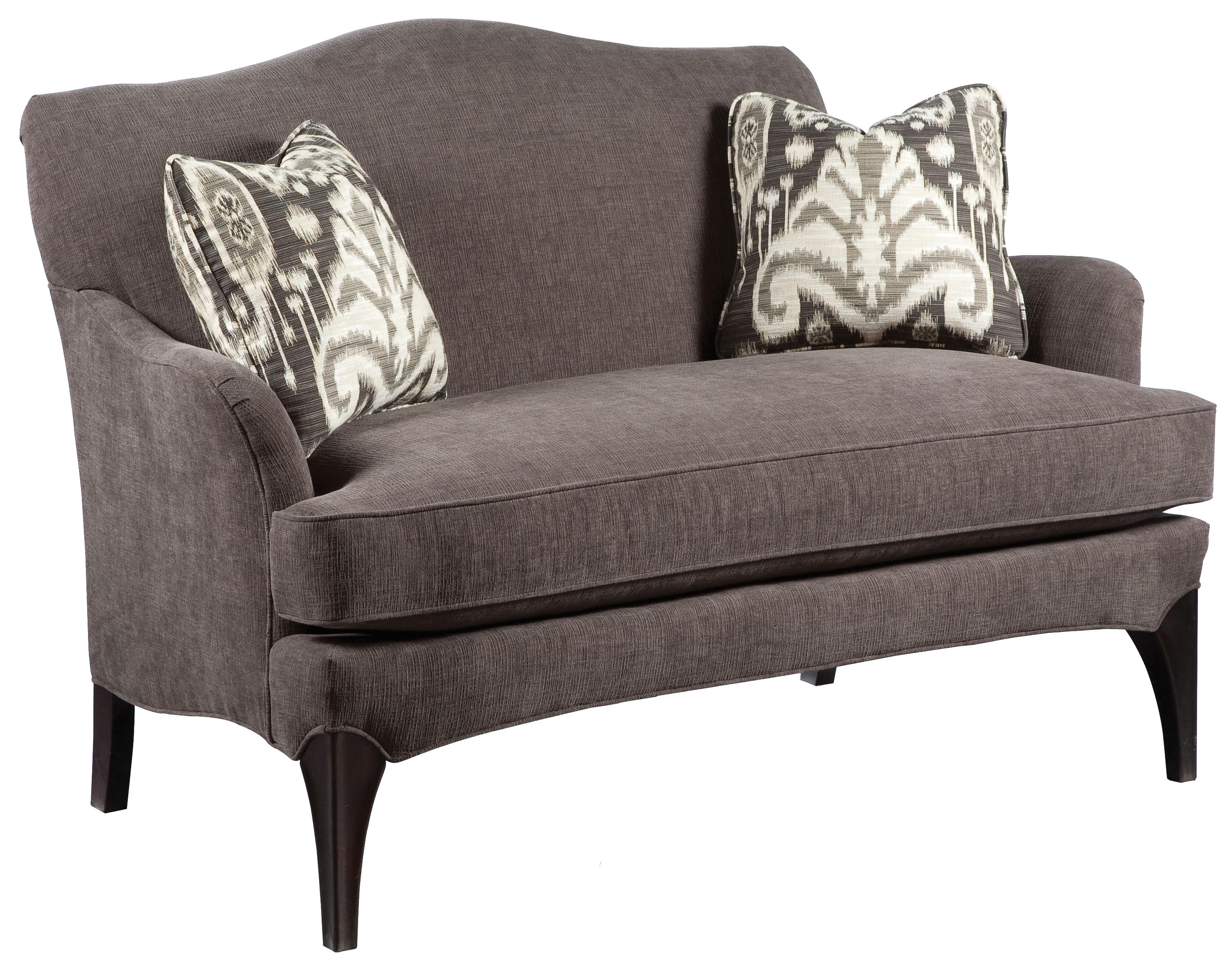 Exposed Wood Furniture ~ Fairfield sofa accents contemporary styled settee