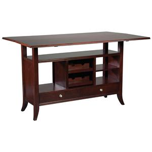 Fairfield Tables Flip-Top Wine Rack Console Table
