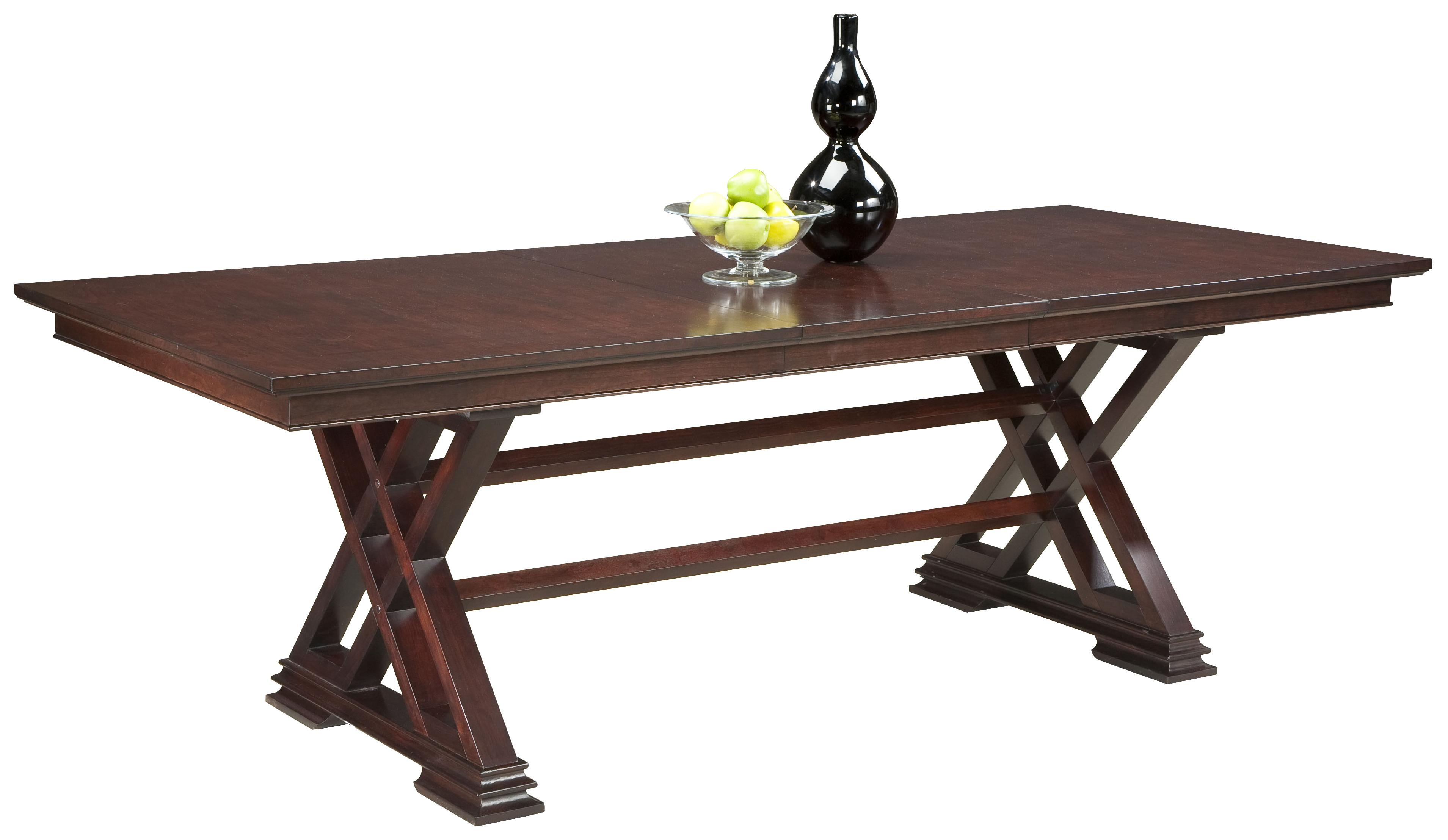 Fairfield Tables Formal Dining Room Table in Trestle Style  : products2Ffairfield2Fcolor2Ftables2018120 43 b2 from www.jacksonvillefurnituremart.com size 3819 x 2217 jpeg 371kB