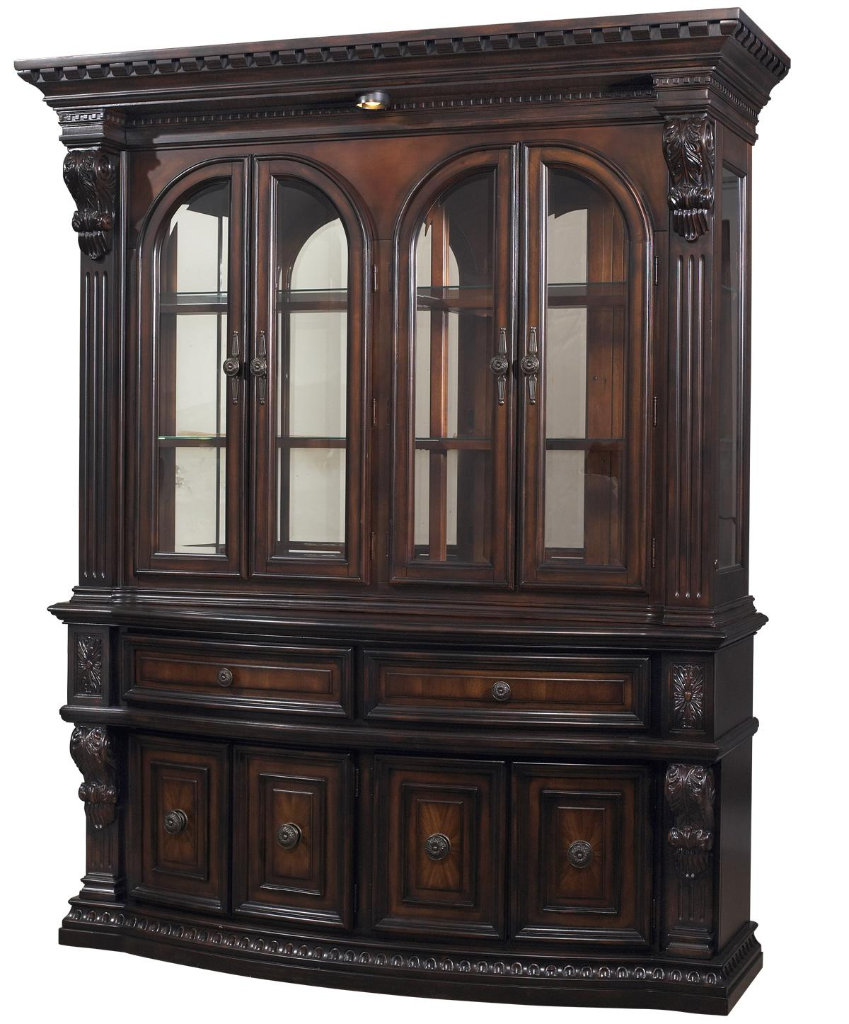 Fairmont designs grand estates china cabinet hutch royal