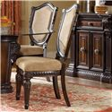 Morris Home Furnishings Grand Rapids Upholstered Side Chair w/ Shield Back
