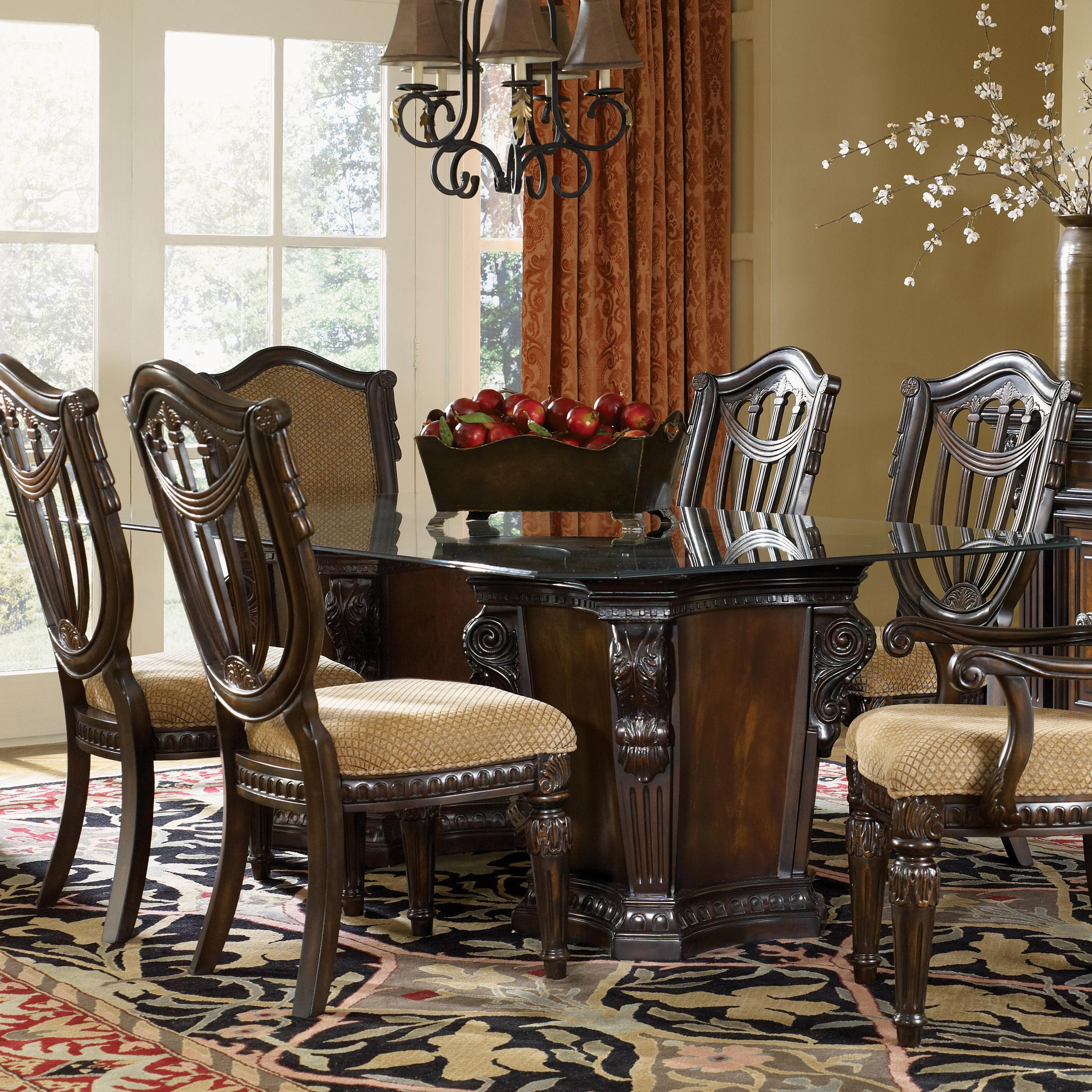 Fairmont Designs Grand Estates Pedestal Glass Dinner Table | Dream ...