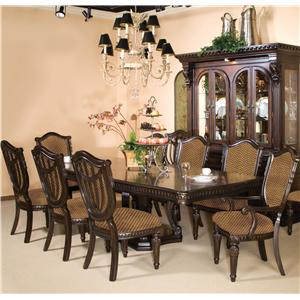 fairmont designs grand estates pedestal glass dinner table - dream