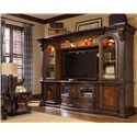 Morris Home Furnishings Grand Rapids Entertainment TV Stand Console - Shown as Entertainment Center in Room Setting with End Table