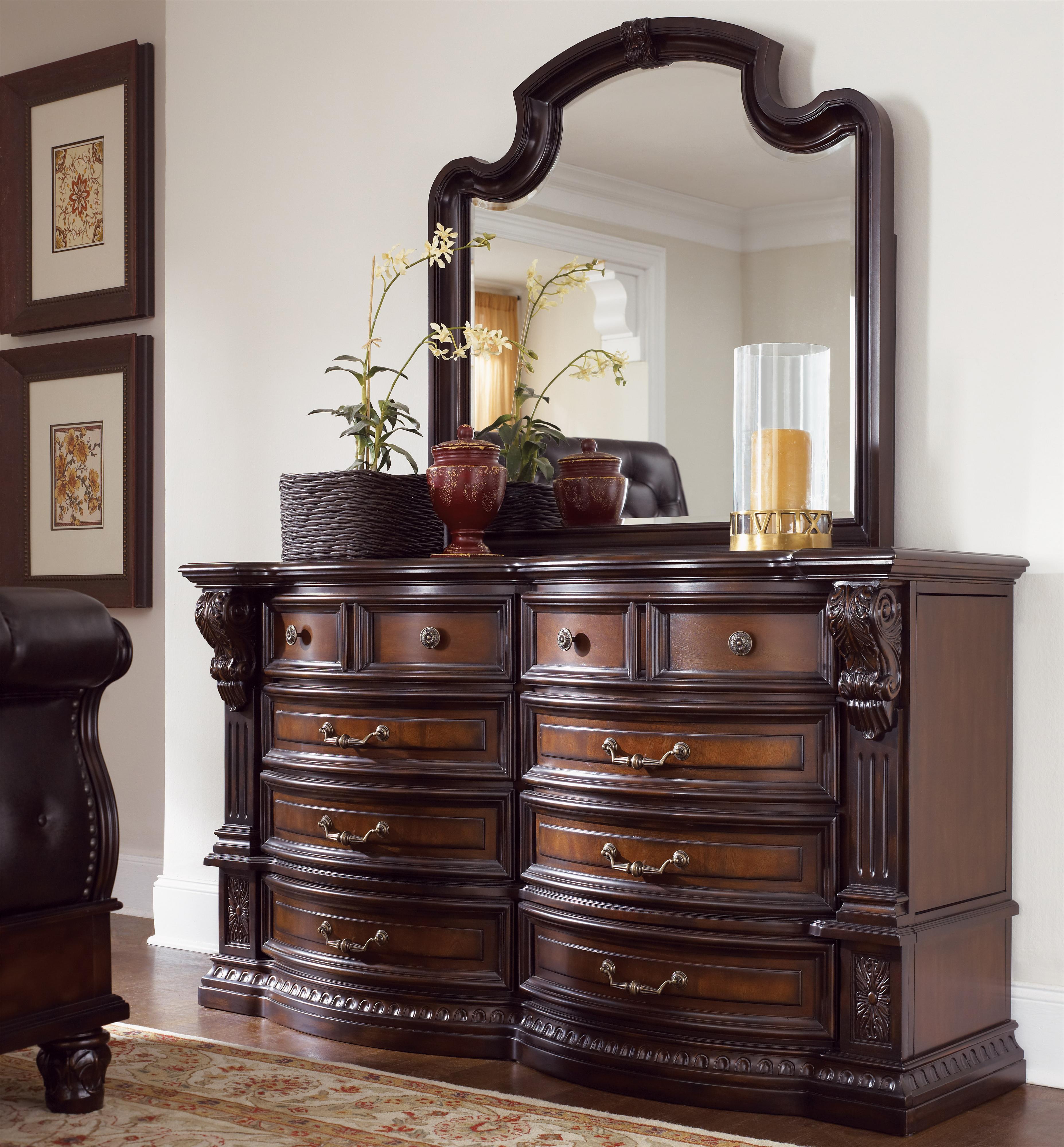 Grand Estates Drawer Dresser W Mirror