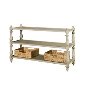 Morris Home Furnishings Rocky Ridge Rocky Ridge Sofa Table with Basket