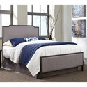 Fashion Bed Group Bayview Bayview California King Bed with Metal Panels and Gray Dove Upholstery