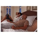Morris Home Furnishings Bedding Support Vibrance Split Cal King Adjustable Bed Base with Head and Foot Articulation