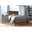 Fashion Bed Group Braden Braden Full Bed with Metal Panels and Reclaimed Wood Design