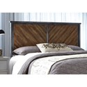 Fashion Bed Group Braden Braden Full Metal Headboard Panel with Reclaimed Wood Design