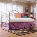 Fashion Bed Group Caroline Twin Caroline Complete Metal Daybed with Link Spring and Trundle Bed Pop-Up Frame