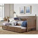Fashion Bed Group Daybeds Carston Daybed with Trundle - Item Number: B50340+B50341+B50342