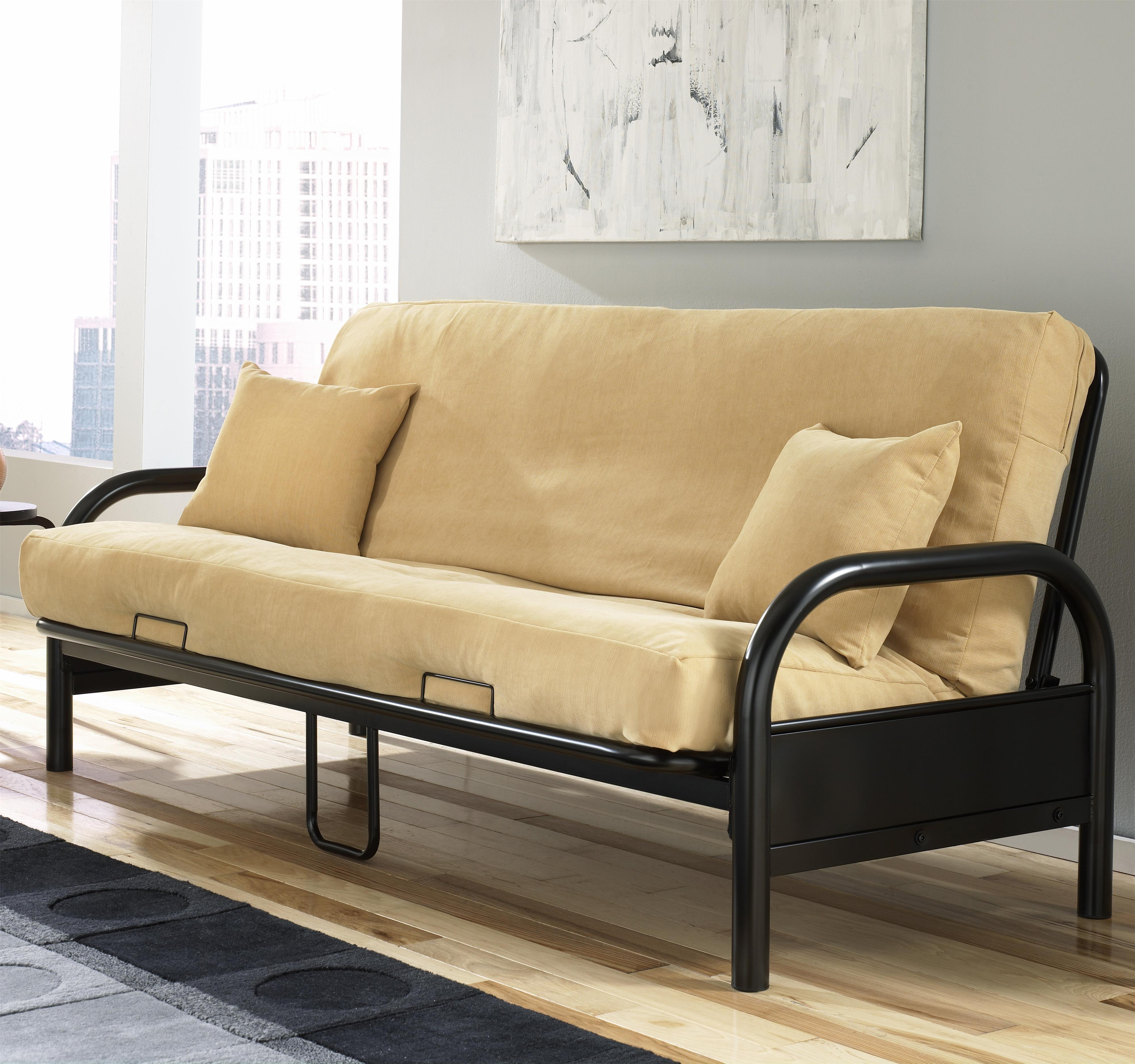 Futons Saturn Futon W Black Innerspring Mattress By Fashion Bed Group
