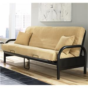 Morris Home Furnishings Futons  Saturn Futon w/ Khaki Cotton/Foam Mattress