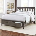 Fashion Bed Group Hampton King Hampton Storage Bed with Solid Wood Frame and and Footboard Drawers - Bed Shown May Not Represent Size Indicated.