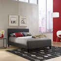 Fashion Bed Group Leather Full Euro Bed