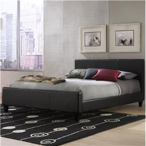Morris Home Furnishings Leather King Euro Bed