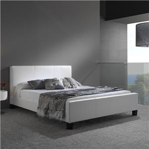 Fashion Bed Group Leather Queen Euro Bed