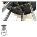 Fashion Bed Group Metal Barstools Transitional Dover Metal Barstool